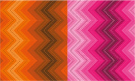 Set of zigzag patterns Royalty Free Stock Photography