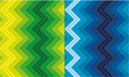 Set of zigzag patterns Stock Images