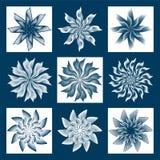 Set zima kwiaty Obrazy Royalty Free