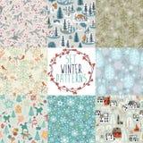 Set zima wzory Obrazy Stock