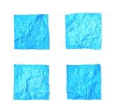 Set zmięci papierów prześcieradła odizolowywający Fotografia Stock