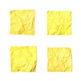 Set zmięci papierów prześcieradła odizolowywający Obrazy Stock