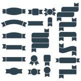 Set zmrok błękitny sylwetka faborek, sztandar i emblemat ikony -, ilustracji