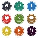 Set znaczki i etykietki dla projekta Zdjęcia Royalty Free