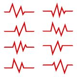 Set znaka bicie serca r?wnie? zwr?ci? corel ilustracji wektora royalty ilustracja