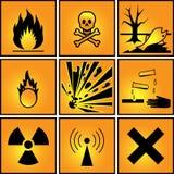 Set znaki ostrzegawczy. Zdjęcia Stock