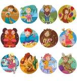 The set of zodiac horoscope sign of horoscope Stock Photo