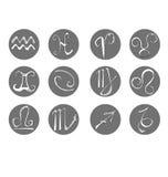 The set of zodiac horoscope sign of horoscope Royalty Free Stock Images