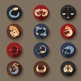 Set of zodiac icons Stock Images