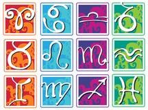 Set of zodiac signs Stock Photos