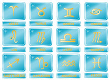 Set zodiac signs Stock Images
