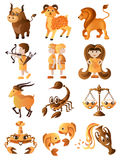 Set of zodiac signs Stock Photography