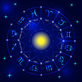 Set of zodiac signs Stock Images