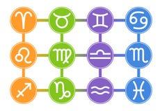 Set of Zodiac Signs Icons. Zodiac Element. Horoscope signs: Leo, Virgo, Scorpio, Libra, Aquarius, Sagittarius, Pisces. Vector. vector illustration