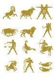 Set of zodiac signs Royalty Free Stock Image