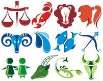 Set of zodiac signs. Set of zodiac symbols isolated on white background Stock Photography