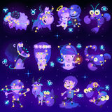 Set of zodiac signs Royalty Free Stock Images