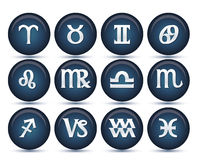 Set of zodiac signs Royalty Free Stock Photography