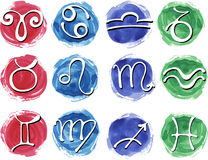 Set of zodiac signs Royalty Free Stock Photo