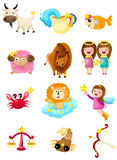 Set of zodiacs sign Royalty Free Stock Photos