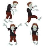 Set of zombies. Stock Photos