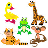 Set of zoo animals. illustration.characters Royalty Free Stock Photo