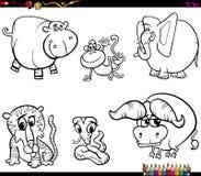 Set zwierzęca charakter kolorystyki książka ilustracji