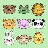 Set zwierzęce głowy Zdjęcia Stock