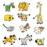 Set zwierzęta Zdjęcie Stock