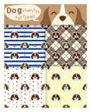 Set zwierzęcy bezszwowi wzory z beagle psem Fotografia Royalty Free