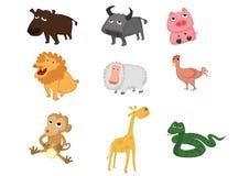 Set zwierzęta Obrazy Royalty Free