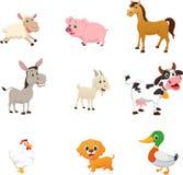 Set zwierzęta gospodarskie kreskówka Fotografia Royalty Free