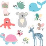 Set zwierzęta wektorowi Zdjęcia Royalty Free
