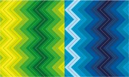 Set zygzakowaci wzory Obrazy Stock
