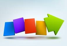 seta 3d Imagens de Stock