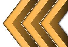 Seta amarela abstrata 3D no vetor futurista moderno do fundo do projeto branco do sentido Foto de Stock Royalty Free
