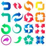 A seta assina ícones Foto de Stock