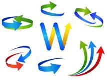 A seta assina ícones Imagem de Stock