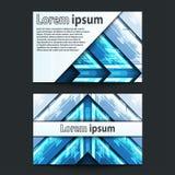Seta azul de néon do projeto de cartão Imagens de Stock Royalty Free