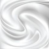 Seta bianca astratta Fotografia Stock