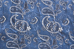 Seta blu fotografie stock libere da diritti