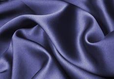 Seta blu Fotografie Stock