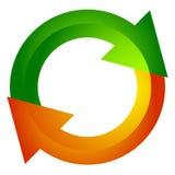 Seta circular, ícone da seta do círculo Rotação, reinício, torção, tur ilustração stock