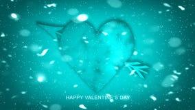 Seta colorida com corações para o dia de Valentim feliz Cartão do amor Inseto ou impressão do banquete de casamento, cartões, etc ilustração stock