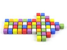 Seta colorida em um fundo branco. Imagem de Stock