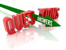 A seta com rupturas das respostas da palavra exprime perguntas. Imagem de Stock