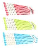 Seta da bandeira da etiqueta de Copyspace feita de cubos lustrosos Imagens de Stock