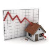 Seta da casa do gráfico Imagens de Stock
