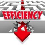Seta da eficiência que quebra resultados melhor eficazes das barreiras Imagens de Stock