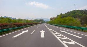 Seta da estrada e do indicador Fotografia de Stock Royalty Free